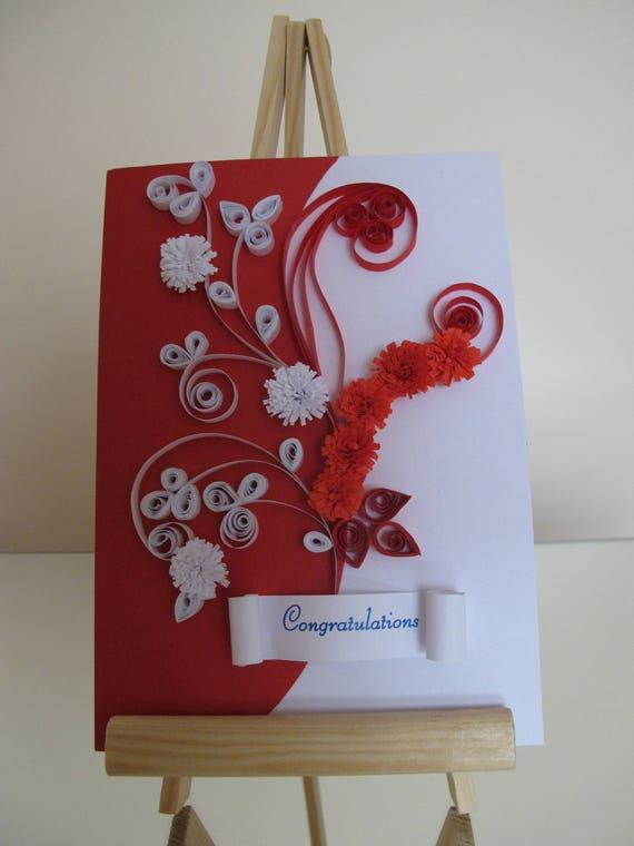 handmade congratulation card wedding greeting card birthday
