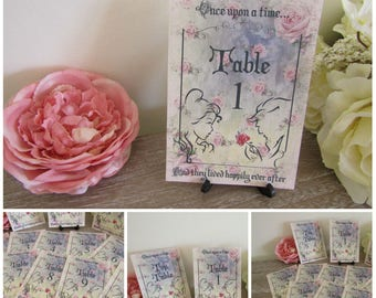 Beauty & The Beast Table Numbers + Top Table Favor Wedding,Fairytale,Princess Wedding