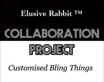 Elusive Rabbit & Customised Bling Things Collaboration Heels crystal Quartz Custom Hand Sculpt Shoe Size 3 4 5 6 7 8 Fantasy Bridal Wedding