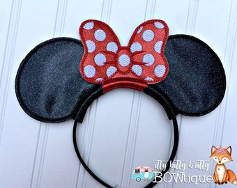 Classic Minnie Mouse inspired Mouse Ears