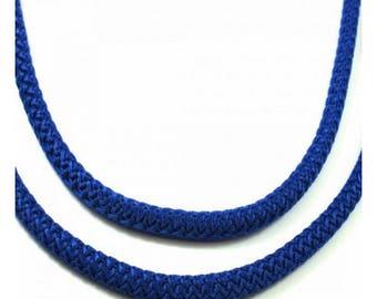 Diameter 5 mm braided cord, blue, medium, by the yard