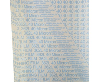 """10/Pk 8-1/2"""" x 11"""" 3M Imperial Micro-Finishing Film -  40 Micron 320 Grit Jewelry Making Abrasive Wet or Dry Polishing Sheets - ABRS-0006"""