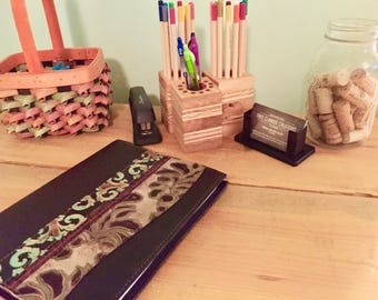 Reclaimed Wood Pencil Holders- Desk essentials- office supplies