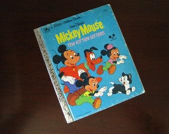 Walt Disney's Mickey Mouse The Kitten Sitters - Vintage Children's Little Golden Book – 100-51
