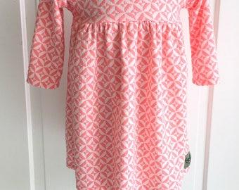Toddler dress -Little Girls -Size2- Pink Dress- church dress-