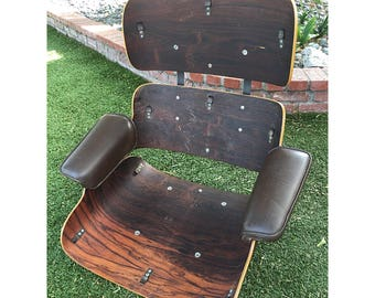 Vintage Herman Miller Rosewood Charles Eames 670 Lounge Chair Frame And Armrests For Part Or Repair