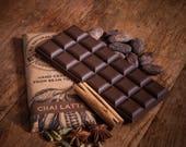 Vegan Milk Chocolate with  Chai, Dairy Free Alternative to Milk Chocolate