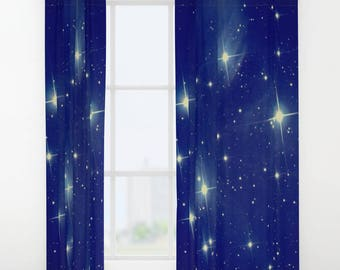 Stars Window Curtains Stars Drapes Blue Stars Drapes Blue Stars Window  Curtains Snake Window Curtains Astronomy