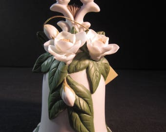 Collector bell, fine bisque porcelain,Seymour Mann, Connoisseur Collection, by Maria Bernini 1996