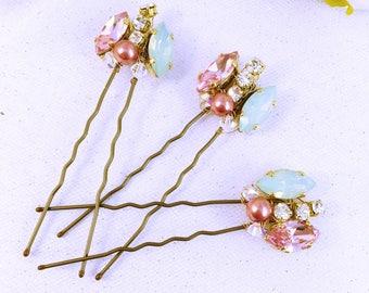 Wedding hairpins / Hair Peak Wedding / wedding Crystal hair pin