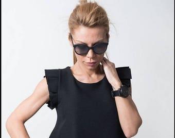 ON SALE Black Dress /Unique dress / Extravagant  Dress/Party elegant dress /Summer dress