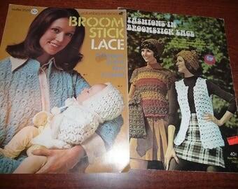 Broomstick Lace Pattern Leaflets