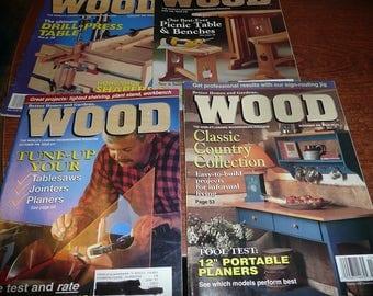 Vintage Wood Magazines 1996 Issues