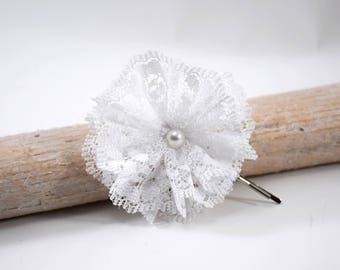 Lace flower on hair clip
