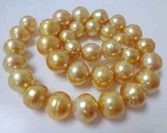 11-14mm Dark Golden South Sea Pearl Necklace