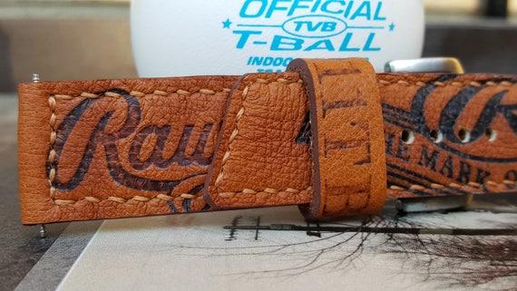 24 mm Handmade Rawlings Baseball Glove Watch Strap 05