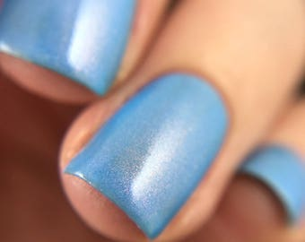 Beaches, Beaches ~ Blue Shimmer Polish