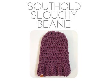 Southold Slouchy Beanie | Slouchy Beanie| Crochet Beanie | Crochet Hat | Crochet Slouchy Hat | Crochet Slouchy Beanie | Slouchy Hat | Winter
