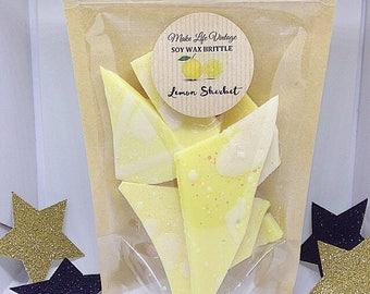 Lemon Sherbet Scented Soy Wax Brittle - Wax Melts