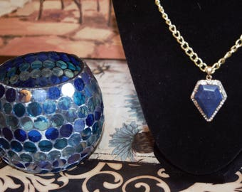 Blue Bling Necklace