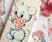Kitsch and cute vintage inspired phone case for Iphone and Samsung Little Bear