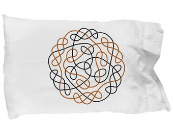 Celtic Gift, Pillow Case, Irish, Knot, Circular