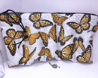 Butterfly Essential Oil Case, Doterra Oil Pouch, Essential Oil Case, Oil Storage Travel Bag, Free Charm, Essential Oil Purse