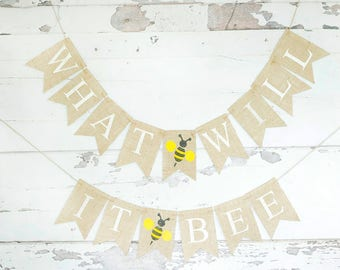 Bumble Bee Baby Shower Decor What Will It Banner Honey
