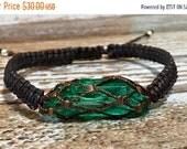 SALE Emerald Bracelet / Healing Crystal Bracelet / Chakra Bracelet / Emerald Jewelry / Raw Crystal Bracelet