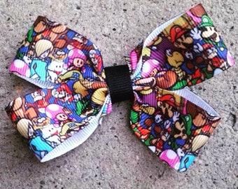 Mario Bros Hair Bow
