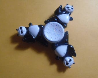 Panda Metal Fidget Spinner in tin case Shipped from Pittsburgh, PA