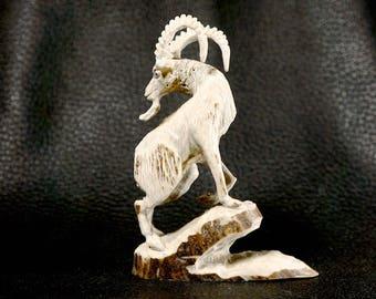 Pernell Laate Zuni Fetish Ram Antler Carving