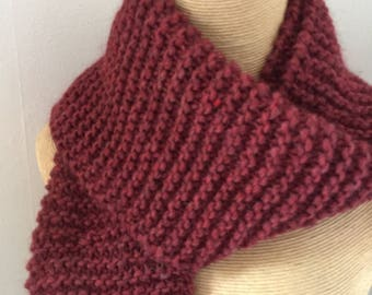 Wool, Burgundy, mixed color scarf