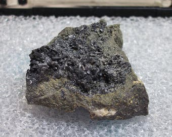 ENARGITE crystals - Longfellow Mine, Red Mountain District, San Juan Co., Colorado