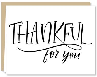 Thankful for You! Greeting Card