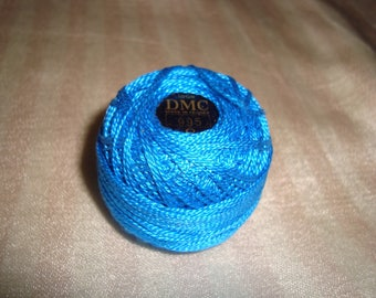 Pearl cotton yarn has overcast No. 8 turquoise