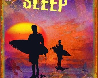 12 x 18 Eat Sleep Surf Metal Sign
