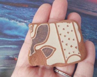 sea pottery italian beach pottery mosaic tyle beach supplies terracotta brown surfer for mosaics sea finds destash ceramic lasoffittadiste