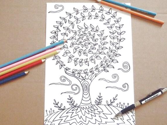 Albero della vita pagina da colorare per adulti zen for Albero della vita da stampare e colorare