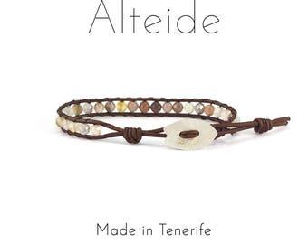 Bracelet Playa del duque 1 wave - Alteide - made in Tenerife - surf inspired - 925 Silver - man woman - Botswana Agate