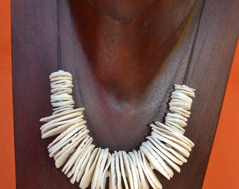 White porcelain necklace
