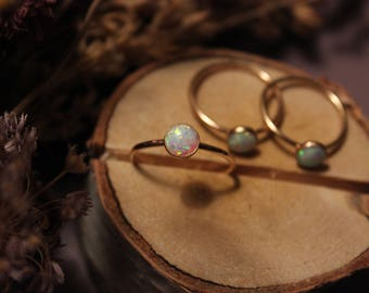 Classic Round Opal Ring
