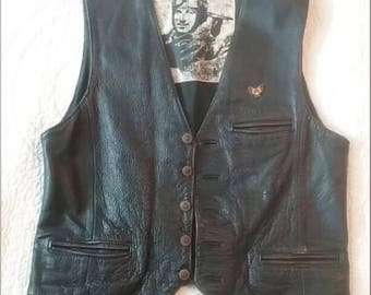Leather Motorcycle Jacket Vest