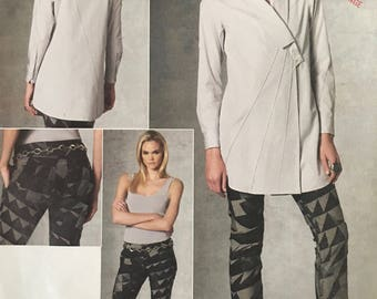 Sewing Pattern Vogue  Designer Vogue V1204 - Issey Miyake Loose Fitting Tunic with Tuck Detail and Pants - Size AA 6 8 10 12