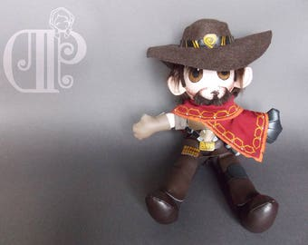 McCree Overwatch Plush Doll Plushie Toy