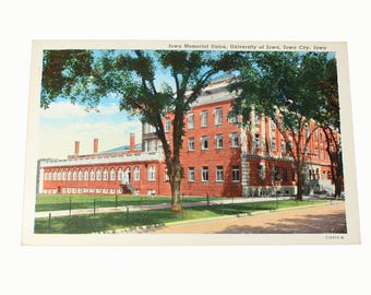 Iowa Memorial Union, University of Iowa Vintage Postcard