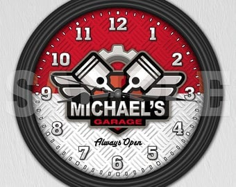 Auto Mechanic - Man Cave - Garage - Personalized Wall Clock ITEM#056