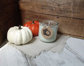 SPICED CIDER scented soy candle, Fall, Autumn, Harvest Candle, cinnamon, spiced apple cider, hand poured, recycled glass tumbler