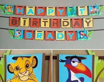 Lion King Birthday Banner, Lion King Banner, Lion King Party, Simba, Lion Guard Birthday Banner, Lion Guard Banner, Lion Guard Party, Kion