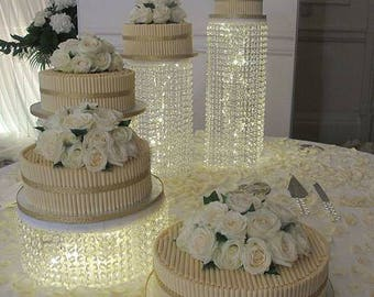Crystal cake plates for wedding cakes